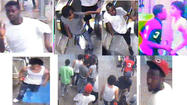 Surveillance photos of teens believed involved in a robbery and mob attack on the Red Line downtown June 9. Police photos