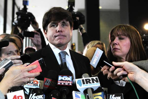 "Not least among the disgraces brought upon himself and the state by former Gov. Rod Blagojevich, shown above after his 2011 sentencing, is responsibility for marring Rudyard Kipling's ""If"" by association, according to attorney William Choslovsky."