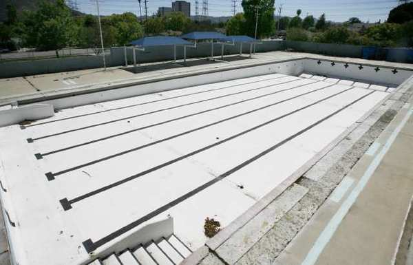 The swimming pool at Verdugo Park has been closed since 2008. The project is slated to be completed by April 2013.
