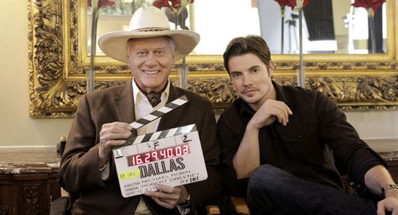 Larry Hagman and Josh Henderson