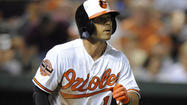 Brian Roberts had never been the recipient of a postgame shaving cream pie — the ones Orioles center fielder Adam Jones now ceremoniously delivers to unsuspecting daily heroes while they do interviews on the field after big wins.