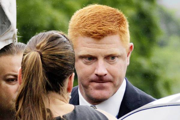 Mike McQueary arrives at court to testify in the child sexual abuse trial of former Penn State University assistant football coach Jerry Sandusky in Bellefonte, Pa.