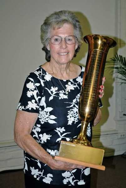Martha Moren received the News-Press Perpetual Trophy for her dedication to the Glendale Women's Athletic Club.