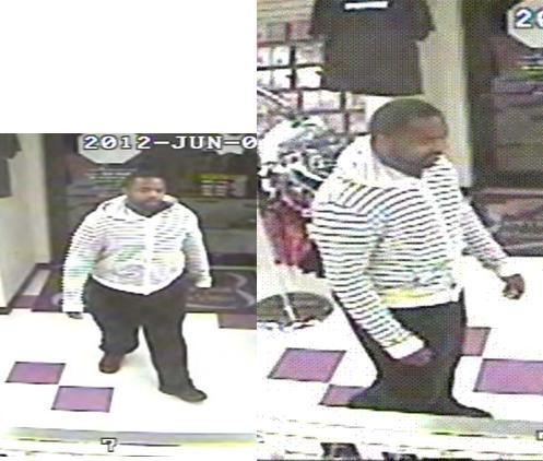 Harford County police are seeking a suspect in the armed robbery of a porn shop in Havre de Grace. Surveillance cameras captured the image of a black male standing 5 feet 9 with a medium to heavy build.