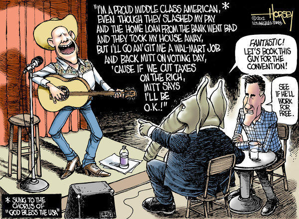 Hard-hit middle class still sings Mitt Romney's tune