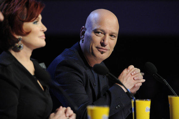 Judges Sharon Osbourne (left) and Howie Mandel.
