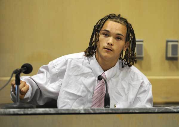 Calvin Kenny, Michael Brewer's best friend, testifies in Broward court against defendant Matthew Bent who is accused of burning Michael Brewer in Oct. 2009.