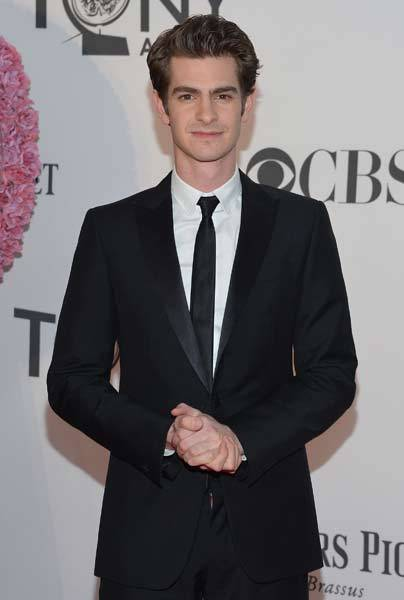 Actor Andrew Garfield attends the 66th Annual Tony Awards at The Beacon Theatre.