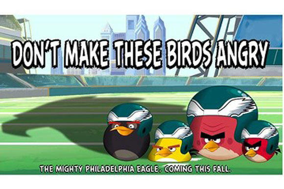 The Philadelphia Eagles and the Angry Birds are working together.