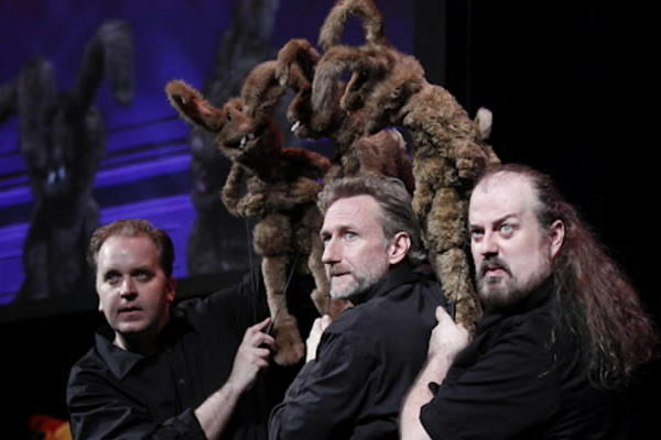 "This live, adults-only show,  created by Brian Henson and Patrick Bristow, performed by a highly skilled cast of puppet-improvisers, and consisting mostly of traditional improv games played by a plethora of intentionally random puppets selected from dozens sitting on racks on the stage, aims to re-create some of the anarchic, R-rated improvised dialog in which Jim Henson Company puppeteers indulged when the cameras were not rolling. And so it does¿laughs ring out. When it comes to puppets, even smutty puppets, the Henson brand remains formidable. ""Stuffed and Unstrung,"" a delight for Muppet fans who¿ve come of age, is a very clever conceit in that it allows you to see the puppets and puppeteers live on stage, but also to watch a second show playing out on big screens in which the puppeteers are not seen. In other words, you don¿t just get to laugh at the inventions of the puppeteers, you also feel like you get a window into how all those great Henson movies and TV shows were actually made. -- Chris Jones<br><br><b>Through June 17 at the Bank of America Theatre, 18 W. Monroe St.; $25-$60 at 800-775-2000 and broadwayinchicago.com</b>"