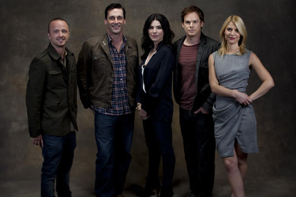 "The Times' Emmy Round Table on drama series panelists were Aaron Paul of ""Breaking Bad,"" Jon Hamm of ""Mad Men,"" Julianna Margulies of ""The Good Wife,"" Michael C. Hall of ""Dexter"" and Claire Danes of ""Homeland."""