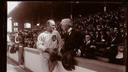 1920: Commissioner Judge Landis with Ty Cobb