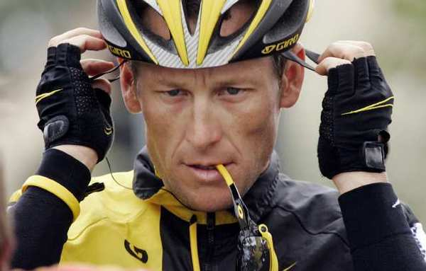 Lance Armstrong during the 2009 Tour de California.