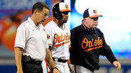 Orioles outfielder Endy Chavez, his strained right hamstring still sore after pulling up lame rounding first base last night, is out of the lineup for tonight's game against the Pirates and is currently day-to-day.