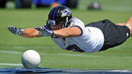 ** Joe Flacco was absent from the second day of the Ravens' three-day, mandatory minicamp, but the quarterback had a good reason. He had rushed to Philadelphia to be with his wife, Dana, who went into labor Wednesday, coach John Harbaugh said. He said the team was still waiting to get an update from Flacco, whose availability for Thursday is uncertain.