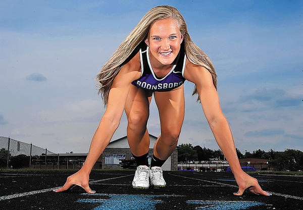 Boonsboro's Abby Duncan is The Herald-Mail's 2012 Washington County Girls Outdoor Track & Field Athlete of the Year.