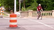 Pedestrians, cyclists forced to dodge traffic amid Michigan Street bridge rehab