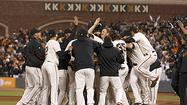 SAN FRANCISCO -- With the help of several outstanding defensive plays, Matt Cain threw the first perfect game in Giants franchise history Wednesday, striking out a career-high 14 batters as San Francisco blanked the Houston Astros 10-0.
