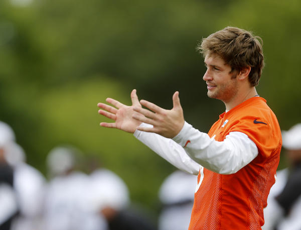 Jay Cutler during minicamp Wednesday.