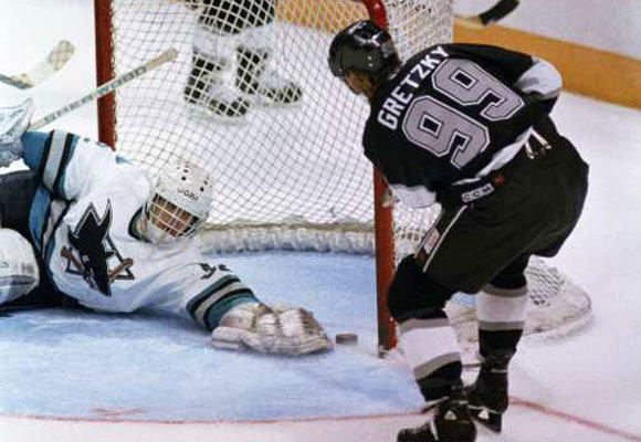 Wayne Gretzky with the Kings in 1994.