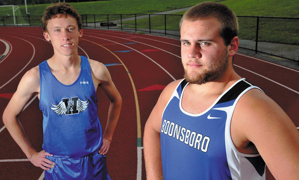 Williamsport's Evan Hardy and Boonsboro's J.R. Lowery are The Herald-Mail's 2012 Washington County Boys Track & Field Co-Athletes of the Year.