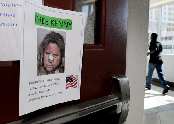 The family of Kenneth Post put up posters in the Broward County Courthouse pleading for him to be freed from jail until his trial next month.  Circuit Judge Paul Backman rejected his request for bond.  The most serious charges against Post  were dropped after three Fort Lauderdale police officers were charged with lying about the police chase and circumstances that led to his arrest.    Susan Stocker, Sun Sentinel