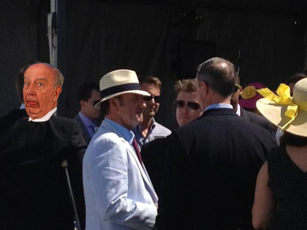 Schaefer was just as excited to see Kevin Spacey at Preakness.