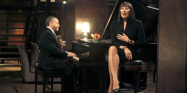 The musical performance and the NBC series itself represent a new direction for Anjelica Huston.