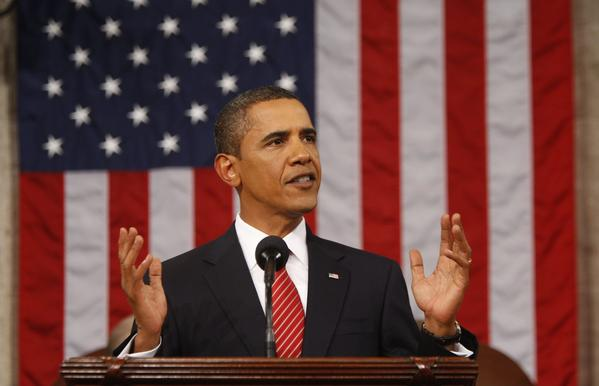 President Barack Obama speaks about health care reform before a joint session of congress on Capitol Hill in Washington, DC.