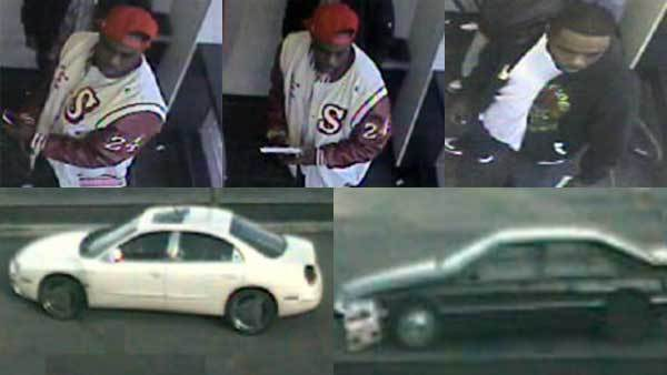Suspects and wanted vehicles in a series of ATM robberies on the South Side.