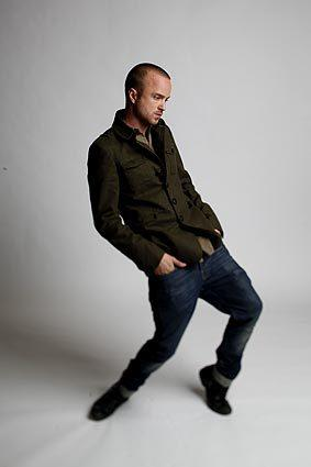 "Aaron Paul is the meth-making Jesse Pinkman on AMC's ""Breaking Bad."" <br>