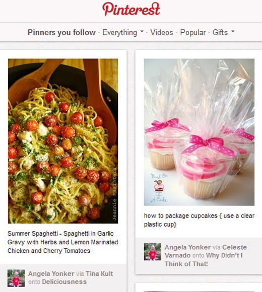 Teen Choice Awards 2012 Nominees: Facebook Instagram Pinterest (pictured) Tumblr Twitter
