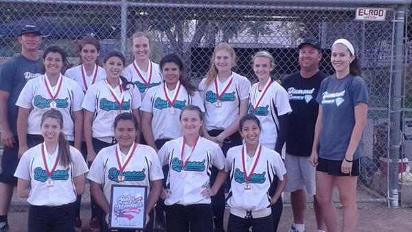 The Diamond Runners 16-and-under softball team finished second at the Triple Crown Sports Stars and Strikes tournament this past weekend in Noble Creek.
