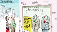 Dana Summers Cartoon: State Topics: Florida Senate, Connie Mack, Bill Nelson
