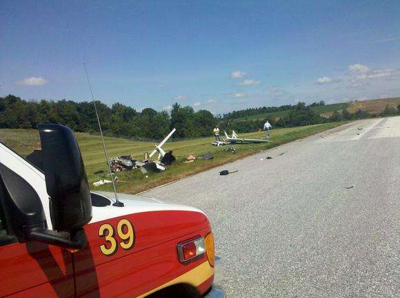 Single-engine plane crash