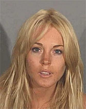 Lindsay Lohan: Her life in pictures: Lohan, shown in her booking photo, was arrested in Santa Monica early on July 24, 2007, on suspicion of drunk driving and possession of cocaine. The arrest came just days after Lohan had been released from six weeks of rehab.
