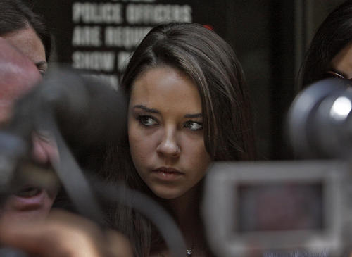 "Starting in 2008, a group of high schoolers, labeled the ""bling ring,"" used various media sources to find stars' homes so they could break in and steal thousands of dollars worth of jewelry and other pricey bounty. Lohan helped bust the group when she reported $130,000 worth of stolen goods to the police and supplied investigators with a security tape. They eventually arrested the six alleged burglars and one, Alexis Neiers, above, had her trial chronicled on the reality show ""Pretty Wild."""