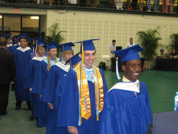 Students from York High School in York County graduate Friday morning at William & Mary Hall in Williamsburg.