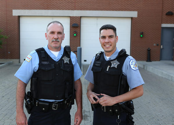Chicago police officers John Haggerty, left, and Dominick Catinella.