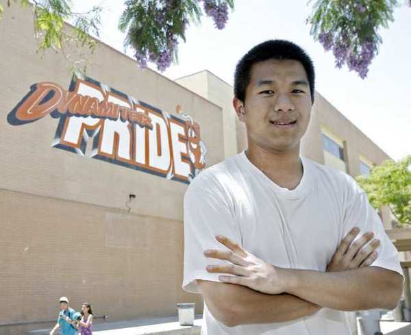 High school senior Eric Youn, at Glendale High School, will be attending West Point later this summer.