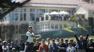 Woods, Furyk, Toms share midway lead in U.S. Open