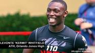 Orlando Jones standout athlete Levonte 'Kermit' Whitfield has narrowed his list of offers to six colleges and he said right now it's more of a battle between Florida State and Miami.