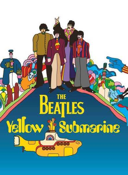 The DVD cover art for The Beatles Yellow Submarine.