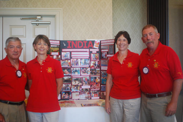 Danville Rotarians Bob and Patti Roland and Evie and Chuck Keiser reported on a recent trip to India.
