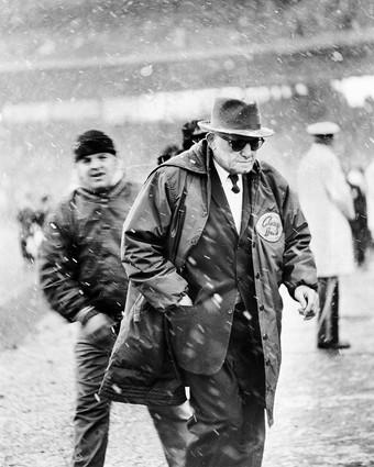 George Halas meant everything to the sport he devoted his life to as a player, founder, owner and coach. Halas founded the Decatur Staleys in 1920, moved the team to Chicago in 1921 and then, as player-owner-coach, changed the name to the Bears, where he was coach until 1967, collecting 324 wins and six NFL titles. Halas was also instrumental in the formation of the National Football League, representing the Staleys at the first organizational meeting in Canton, Ohio. The man affectionately called Papa Bear was elected to the Hall of Fame in 1963.