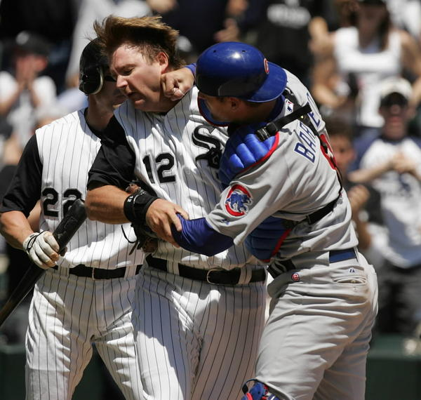 Ah, the infamous A.J. Pierzynski-Michael Barrett brawl game. Never get sick of seeing these highlights.