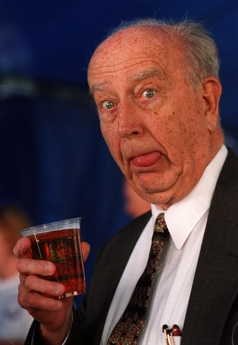 William Donald Schaefer originally made this face back in April 1999 at the press conference to announce the reintroduced National Premium Beer as brewed and marketed under Frederick Brewing Co. Later, Schaefer said that he enjoyed the beer despite the silly look on his face.