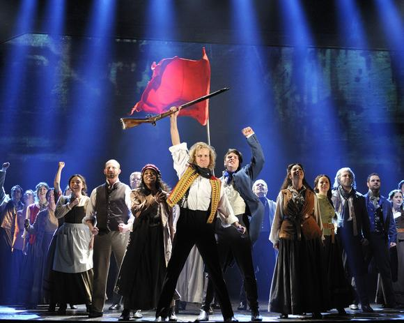"The 25th anniversary cast of ""Les Miserables,"" now playing at the Segerstrom Center for the Arts."
