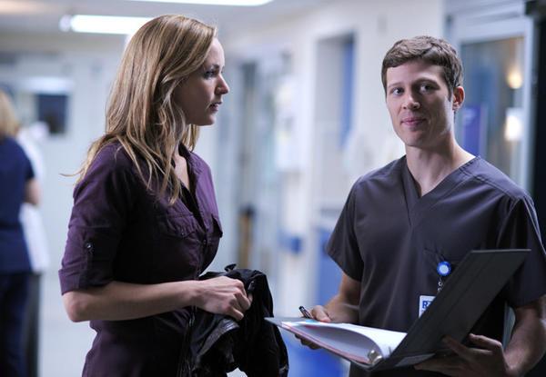 "Jordana Spiro and Evanston native Zach Gilford star in Fox's ""The Mob Doctor."""