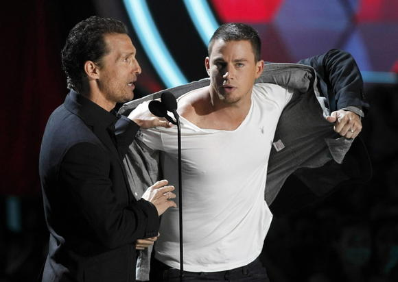 Matthew McConaughey and Channing Tatum at the MTV Movie Awards